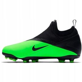 Buty piłkarskie Nike Phantom Vsn 2 Academy Df Fg /MG Jr CD4059 306 wielokolorowe zielone 3