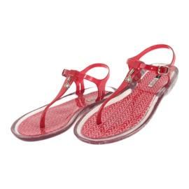 Sandały japonki Grendha Clear/red bezbarwne czerwone 2