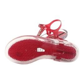 Sandały japonki Grendha Clear/red bezbarwne czerwone 4
