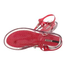 Sandały japonki Grendha Clear/red bezbarwne czerwone 3