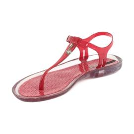 Sandały japonki Grendha Clear/red bezbarwne czerwone 1