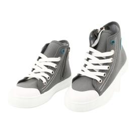 Befado obuwie dziecięce 438X014 szare 3