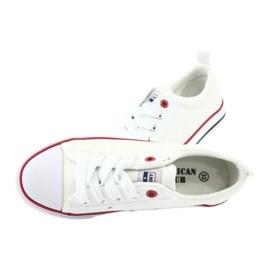 American Club Białe Trampki Wiązane American LH25 5