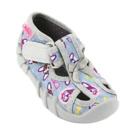 Befado obuwie dziecięce 190P093 szare wielokolorowe 2