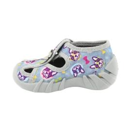 Befado obuwie dziecięce 190P093 szare wielokolorowe 3