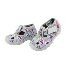 Befado obuwie dziecięce 190P093 szare wielokolorowe 4