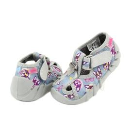 Befado obuwie dziecięce 190P093 szare wielokolorowe 5