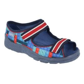 Befado obuwie dziecięce  969X153 czerwone granatowe niebieskie 1