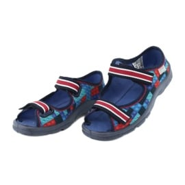 Befado obuwie dziecięce  969X153 czerwone granatowe niebieskie 3