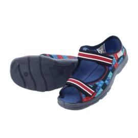 Befado obuwie dziecięce  969X153 czerwone granatowe niebieskie 4