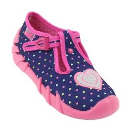 Befado obuwie dziecięce 110P362 granatowe różowe 2
