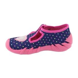 Befado obuwie dziecięce 110P362 granatowe różowe 3