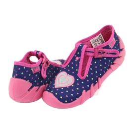 Befado obuwie dziecięce 110P362 granatowe różowe 4