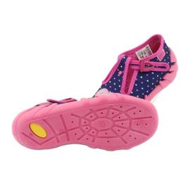 Befado obuwie dziecięce 110P362 granatowe różowe 5