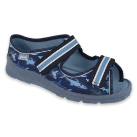 Befado obuwie dziecięce 969Y156 granatowe niebieskie 1