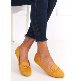 Mokasyny damskie miodowe 2S2018-157 Yellow żółte 3