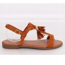 Sandałki damskie camel 222-30 Camel brązowe 1