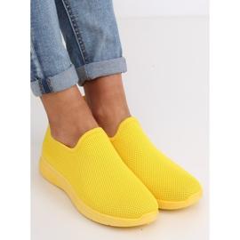 Obuwie sportowe żółte 7079 Yellow 2