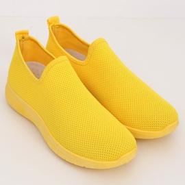 Obuwie sportowe żółte 7079 Yellow 4