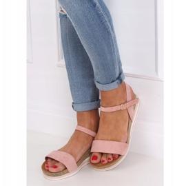 Sandałki damskie różowe RD054 Pink 3