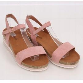 Sandałki damskie różowe RD054 Pink 1