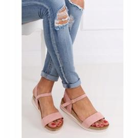 Sandałki damskie różowe RD054 Pink 2