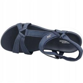 Sandały Skechers On The Go 600 W 15316-NVY granatowe niebieskie 2