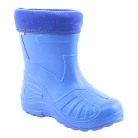 Befado obuwie dziecięce kalosz- chabrowy 162Y106 niebieskie 2