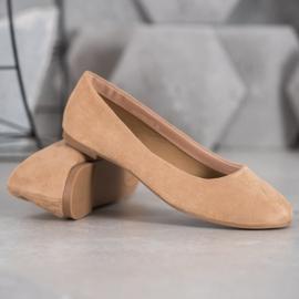 Best Shoes Zamszowe Baleriny brązowe 3