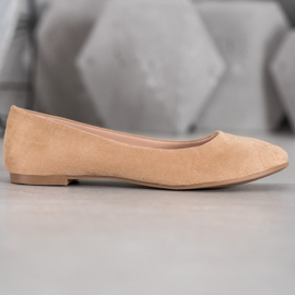 Best Shoes Zamszowe Baleriny brązowe 1