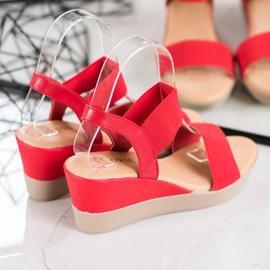 Clowse Lekkie Wsuwane Sandały czerwone 2