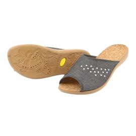 Befado obuwie damskie pu 254D106 szare 4
