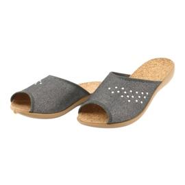 Befado obuwie damskie pu 254D106 szare 3