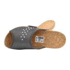 Befado obuwie damskie pu 254D106 szare 5