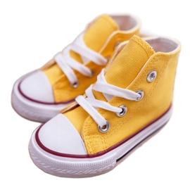 FRROCK Dziecięce Trampki Klasyczne Wysokie Żółte Filemon 3