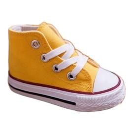 FRROCK Dziecięce Trampki Klasyczne Wysokie Żółte Filemon 1