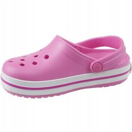 Klapki Crocs Crocband Clog Jr 204537-6U9 różowe 1
