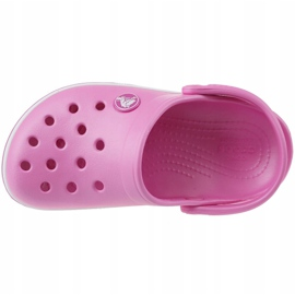 Klapki Crocs Crocband Clog Jr 204537-6U9 różowe 2