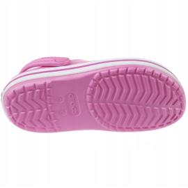 Klapki Crocs Crocband Clog Jr 204537-6U9 różowe 3