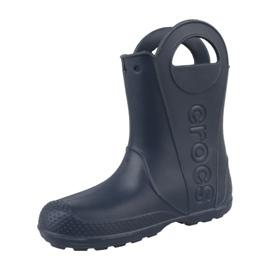 Kalosze Crocs Handle It Rain Boot Kids Jr 12803-410 granatowe 1