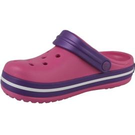 Klapki Crocs Crocband Clog Jr 204537-600 fioletowe różowe 1