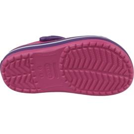 Klapki Crocs Crocband Clog Jr 204537-600 fioletowe różowe 3