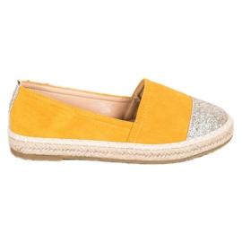 Seastar Espadryle Z Brokatem żółte 1