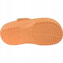 Klapki Crocs Crocband Clog K Jr 204536-801 pomarańczowe 3