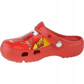 Klapki Crocs Fun Lab Cars Clog Jr 204116-8C1 czerwone szare 1