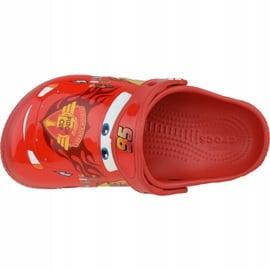 Klapki Crocs Fun Lab Cars Clog Jr 204116-8C1 czerwone szare 2
