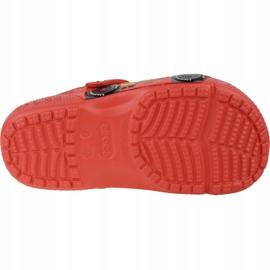 Klapki Crocs Fun Lab Cars Clog Jr 204116-8C1 czerwone szare 3