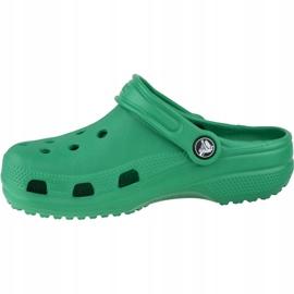 Klapki Crocs Crocband Clog K Jr 204536-3TJ zielone 1