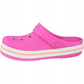Klapki Crocs Crocband Clog K Jr 204537-6QZ różowe szare 1
