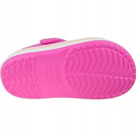 Klapki Crocs Crocband Clog K Jr 204537-6QZ różowe szare 4